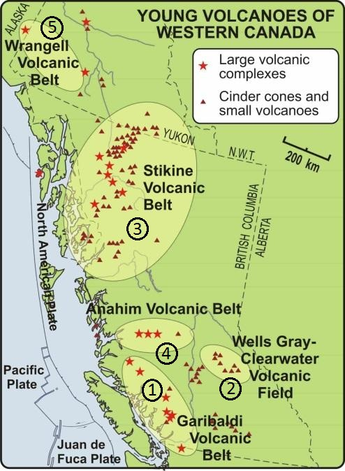 image of young volcanoes in Western Canada